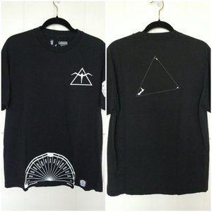 Farmer's Market Hawaii Mens S/S POLYNESIAN TRIANGLE 2-Sided Graphic t-Shirt L